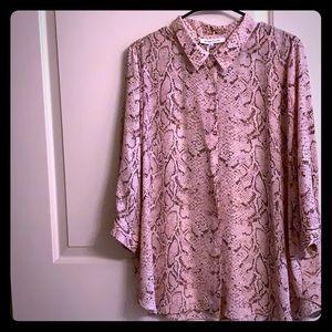 New Chic animal print blouse top 1x